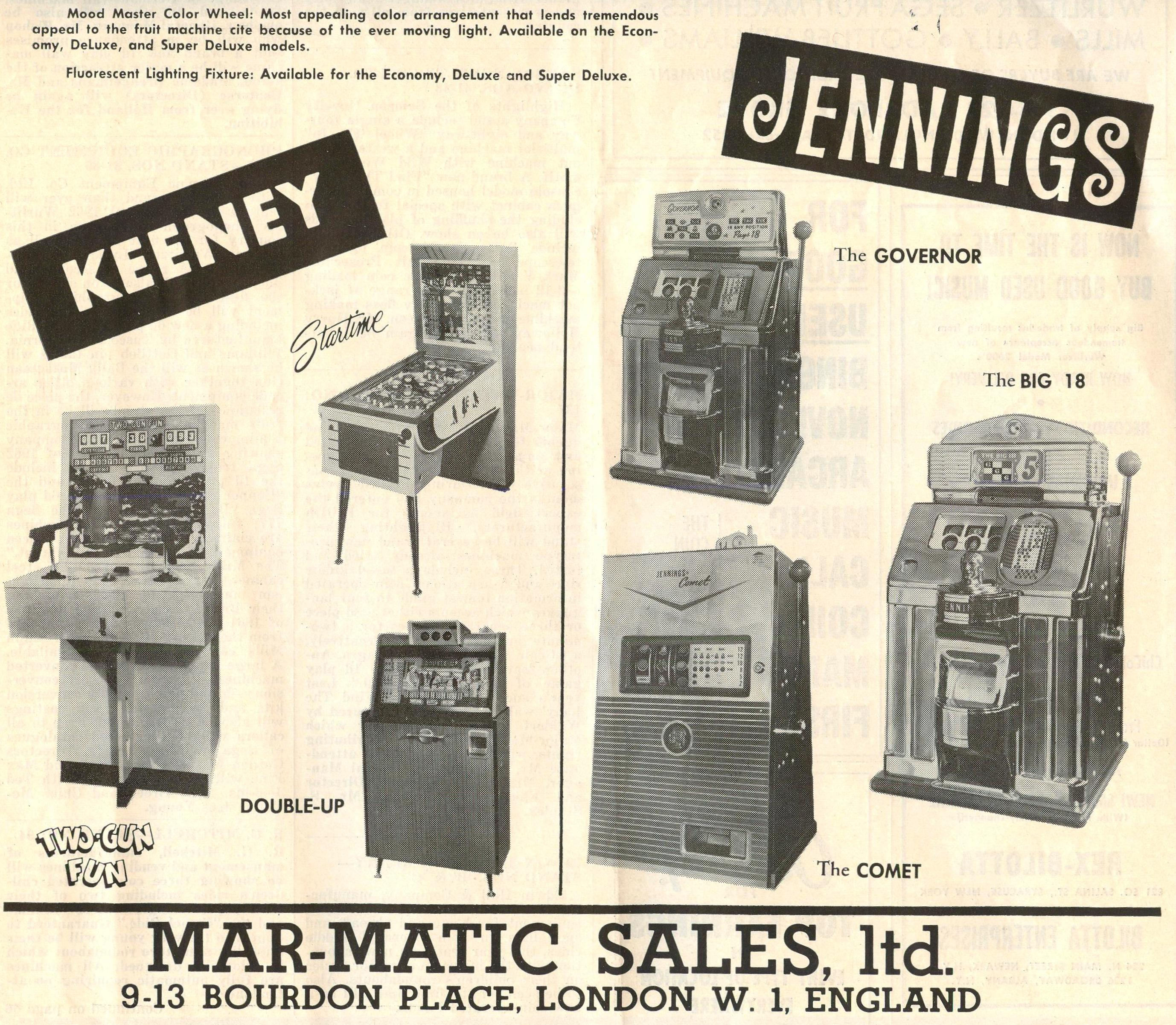 Mar-Matics  Jennings-Keeney  importer in England 1962.jpg